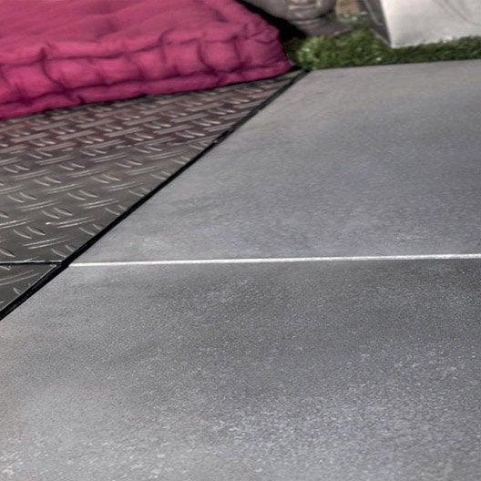 Dalle clipsable b ton gris clair x cm x mm leroy merlin - Dalle exterieur clipsable ...