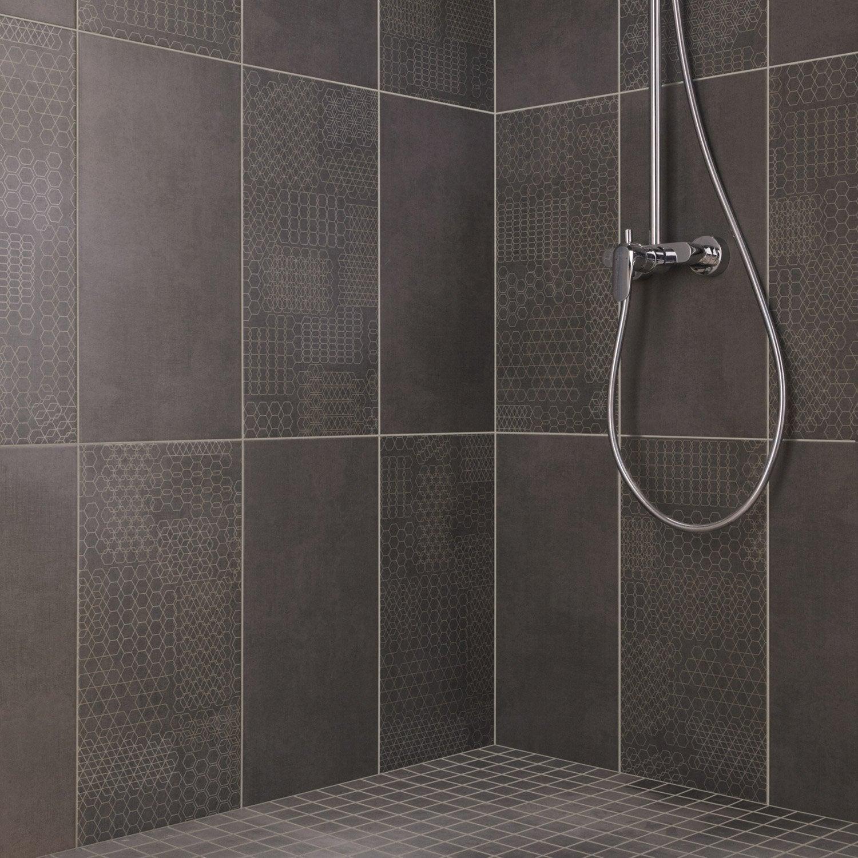 mosa que sol et mur tweed anthracite 5 x 5 cm leroy merlin. Black Bedroom Furniture Sets. Home Design Ideas