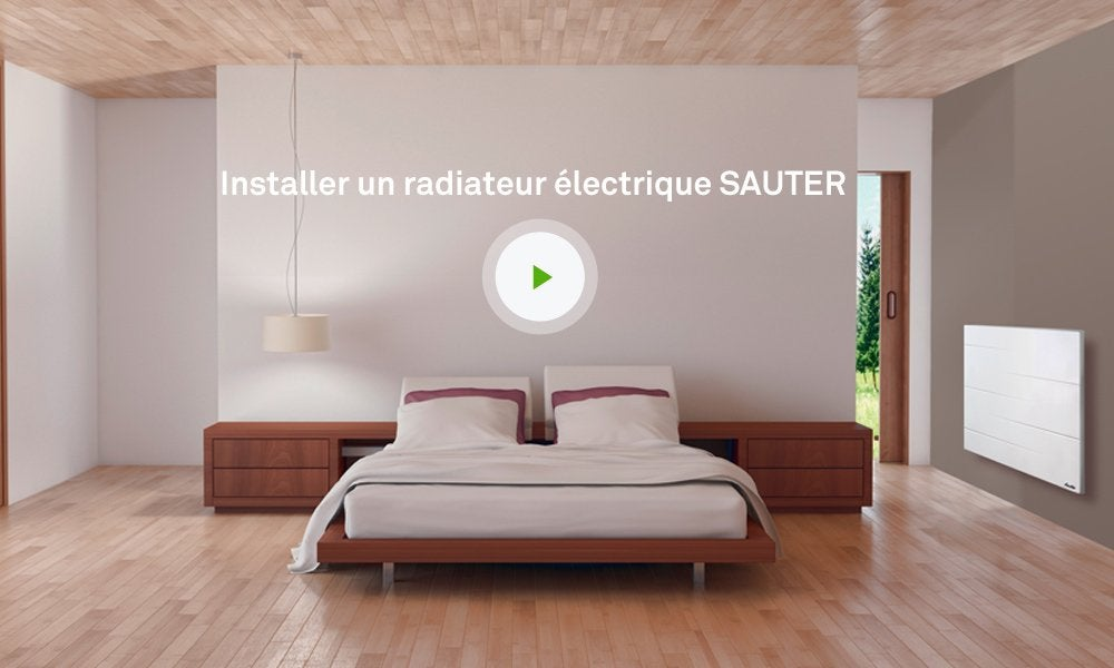 radiateur lectrique connect sauter malao 1000 w leroy merlin. Black Bedroom Furniture Sets. Home Design Ideas