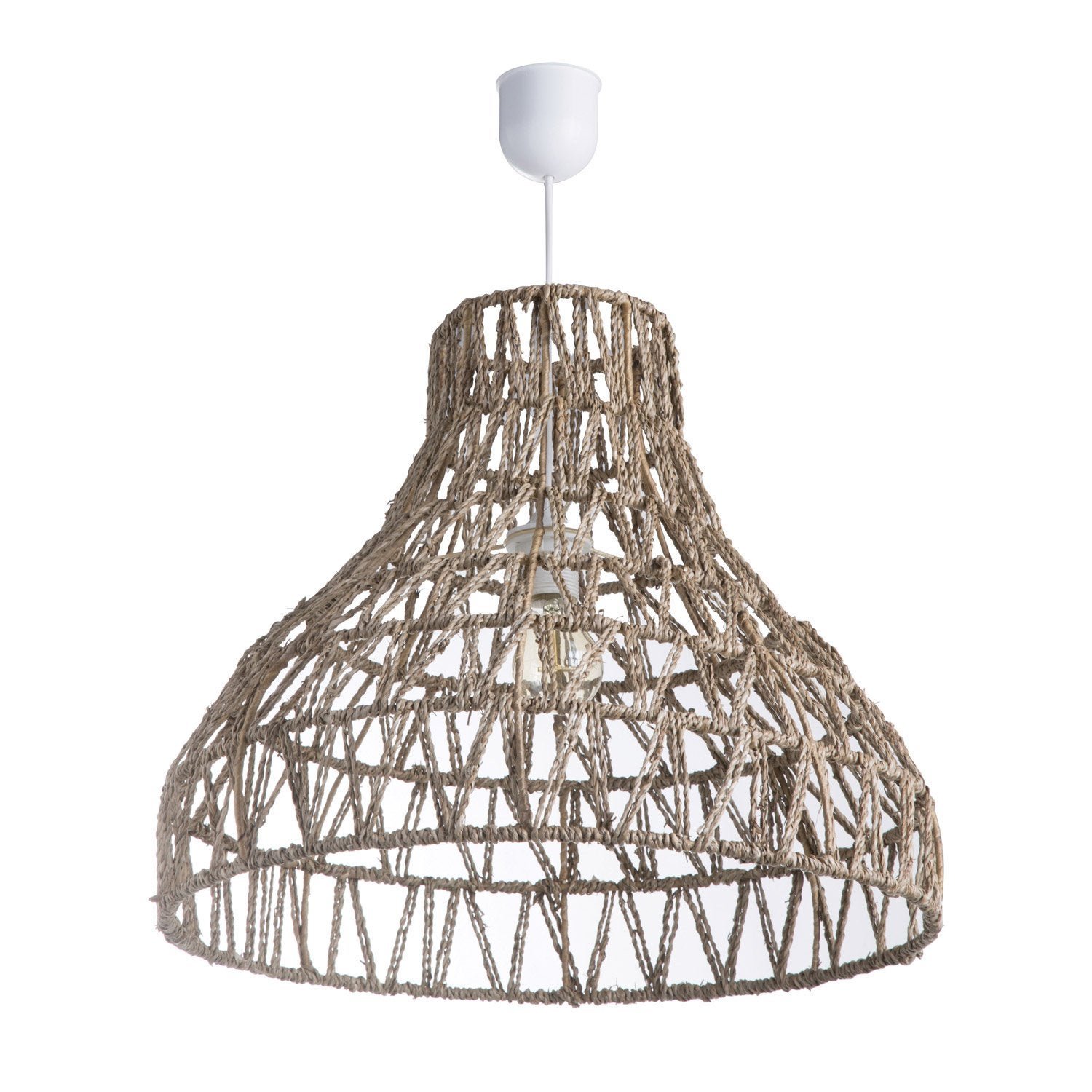 Suspension, E27 bohème Satna rotin naturel 1 x 60 W LUSSIOL