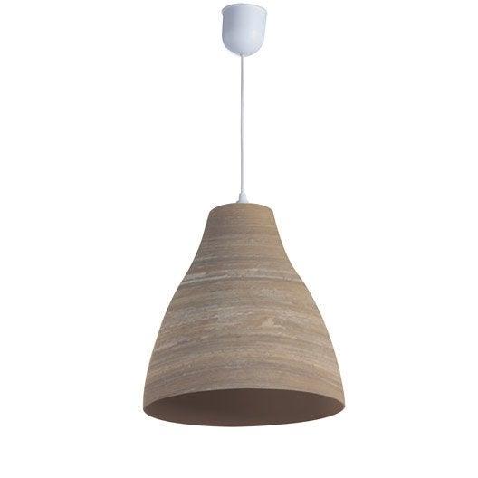 suspension e27 bord de mer calcuta bambou naturel 1 x 60 w lussiol leroy merlin. Black Bedroom Furniture Sets. Home Design Ideas