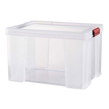 Boîte Clip'n store plastique , l.39 x P.50 x H.32.5 cm