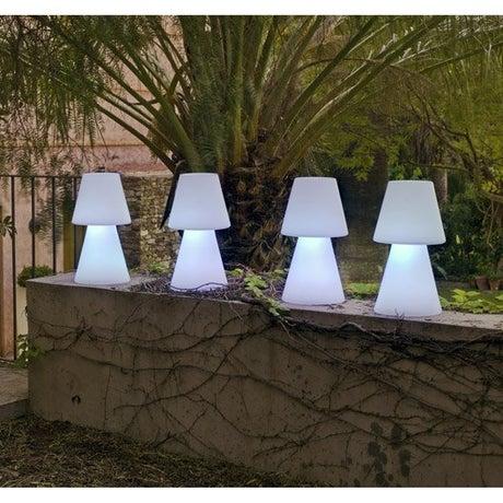 Lampe de table extérieure Lola 45 cm E27 25 W = 880 Lm, blanc NEWGARDEN