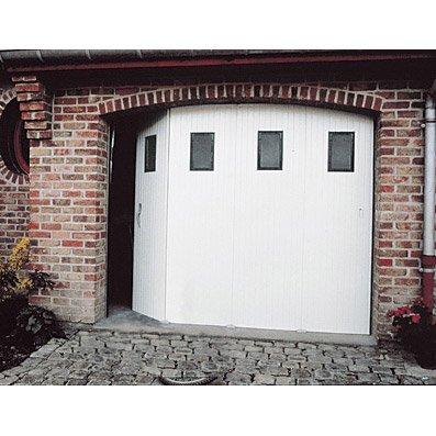 Porte De Garage Coulissante Manuelle Primo H 200 X L 240 Cm Avec Hublot