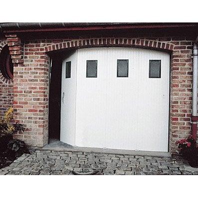 Porte De Garage Coulissante Manuelle PRIMO H.200 X L.240 Cm Avec Hublot ...