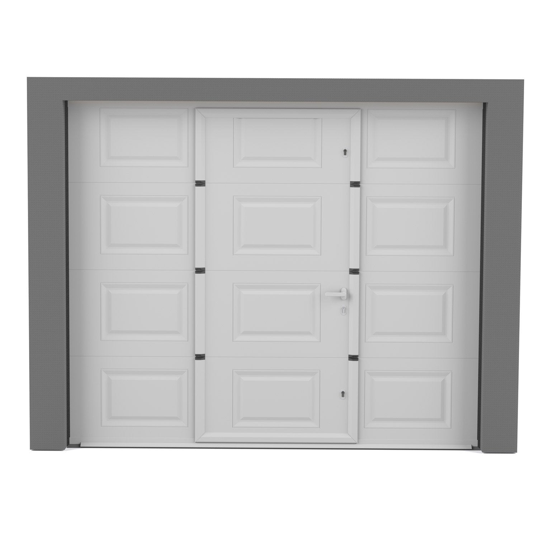 Porte De Garage Sectionnelle Motorisée ARTENS Essentiel H X L - Porte de garage sectionnelle avec porte douche pvc