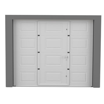 Porte de garage sectionnelle enroulable basculante - Porte de garage avec portillon integre leroy merlin ...