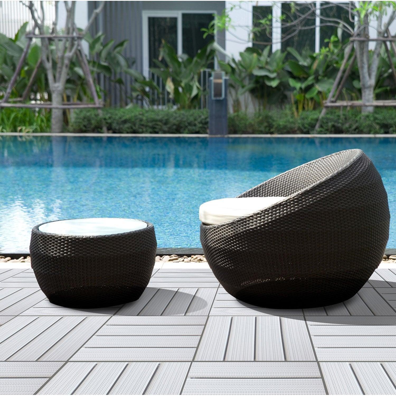 dalle clipsable vinyle blanc x cm x mm. Black Bedroom Furniture Sets. Home Design Ideas