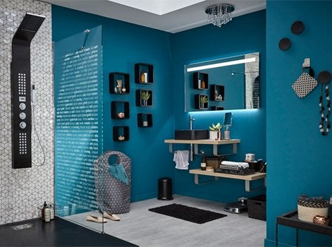 free le bleu ptrole with salle de bain bleu petrole. Black Bedroom Furniture Sets. Home Design Ideas