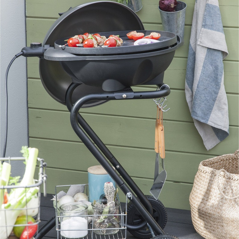 Barbecue Electrique Paname Gris Leroy Merlin