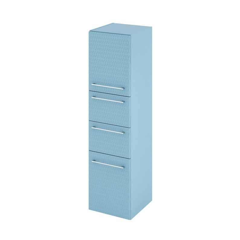 Colonne De Salle De Bains L 45 X H 173 X P 46 8 Cm Bleu 3d Remix