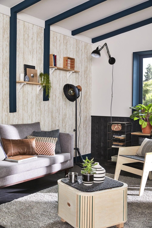 inspiration papier peint imitation brique ou bois. Black Bedroom Furniture Sets. Home Design Ideas