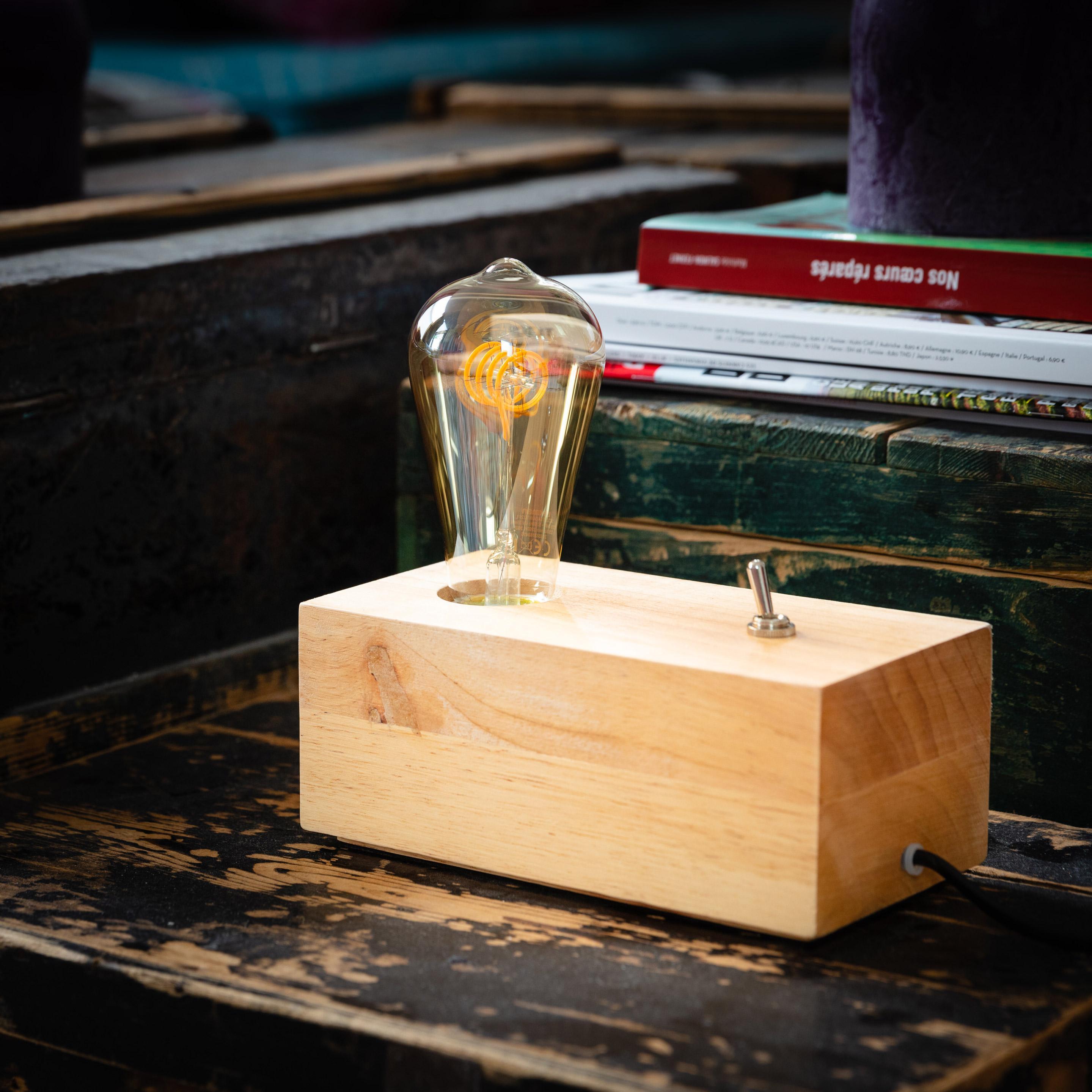 Lampe, e27 Buchen MATHIAS, verre, 15 W