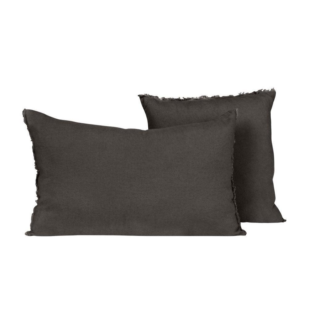 Coussin Solenzara, charbon l.40 x H.60 cm