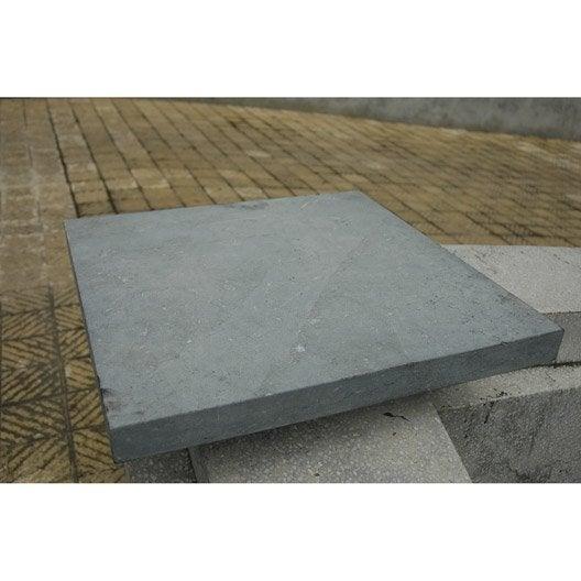 Chapeau pierre bleue d coratif h 4 x x cm - Dessus de muret leroy merlin ...