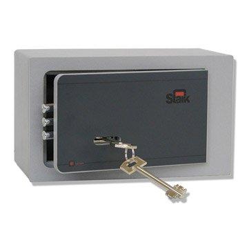 Coffre-fort haute sécurité à clé STARK Garant, H12.5xl22xP11.5cm, 2.2L