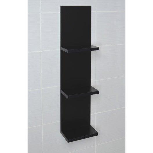 etag re de wc x x cm noir coin d 39 o leroy merlin. Black Bedroom Furniture Sets. Home Design Ideas