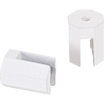 Accessoires de miroir miroir de salle de bains leroy merlin - Tablette blanc laque ...