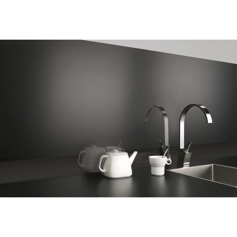 cr dence acrylique noir carbone cm x cm leroy merlin. Black Bedroom Furniture Sets. Home Design Ideas