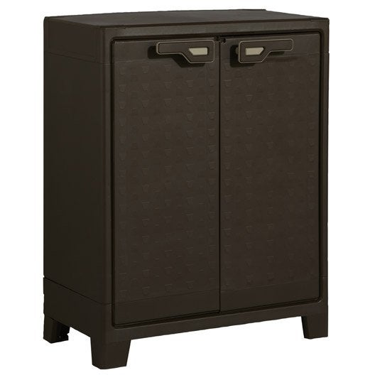 armoire de jardin r sine titan marron x x cm leroy merlin. Black Bedroom Furniture Sets. Home Design Ideas