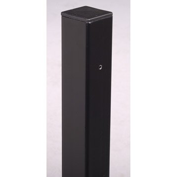poteau grillage aluminium pin bois au meilleur prix leroy merlin. Black Bedroom Furniture Sets. Home Design Ideas