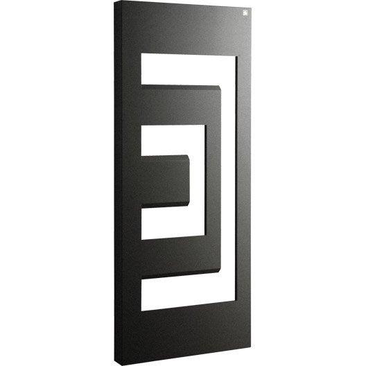 s che serviettes eau chaude acier irsap dedalo noir 640 w. Black Bedroom Furniture Sets. Home Design Ideas