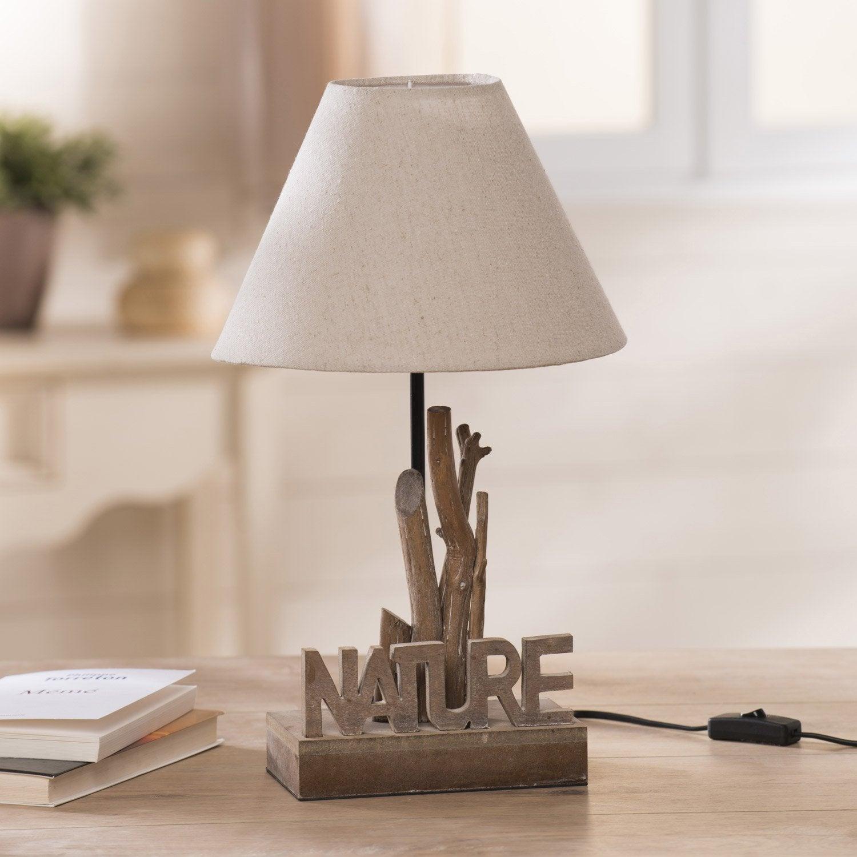 LampeE27 Écru60 Nature LampeE27 W SeynaveTissu Écru60 SeynaveTissu Nature bv7gY6Ify