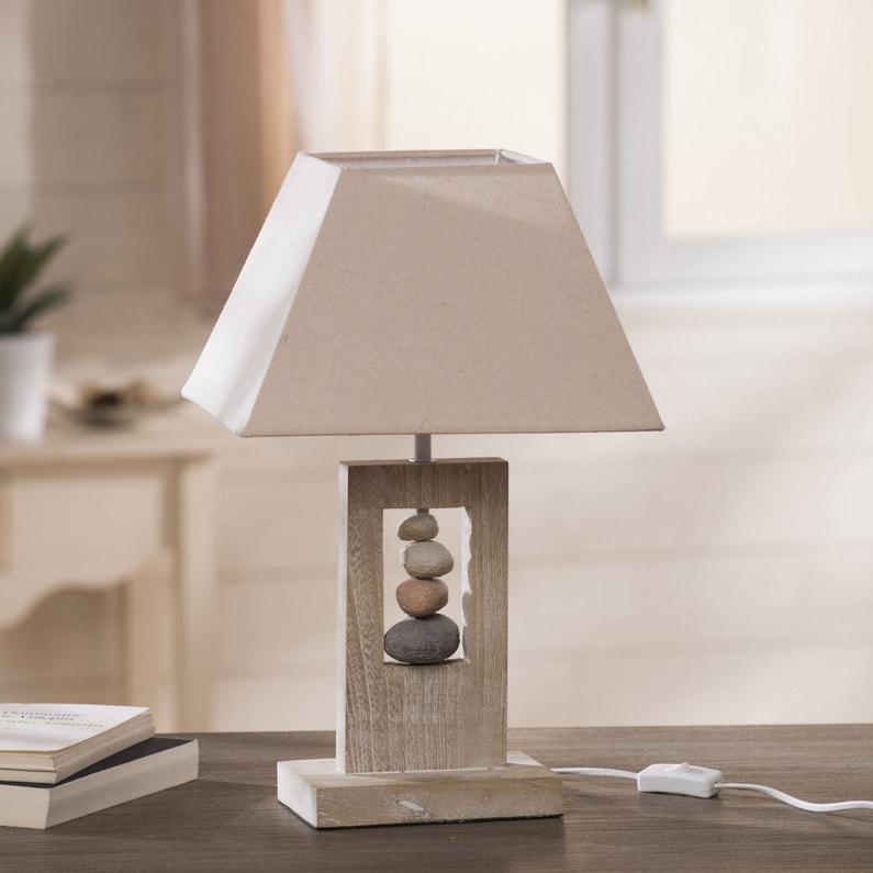 Lampe E14 Cabourg Seynave Tissu Naturel 40 W