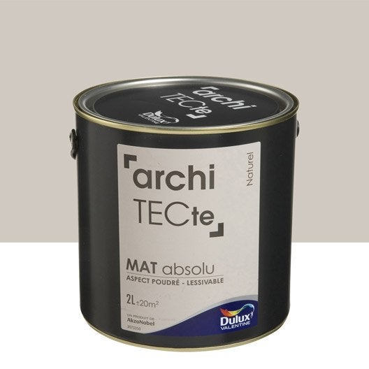 Peinture beige naturel dulux valentine architecte 2 l for Dulux valentine lin naturel
