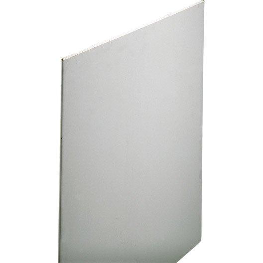 plaque de plâtre feu m0 2.5 x 1.2 m, ba13, entraxe 60 cm | leroy