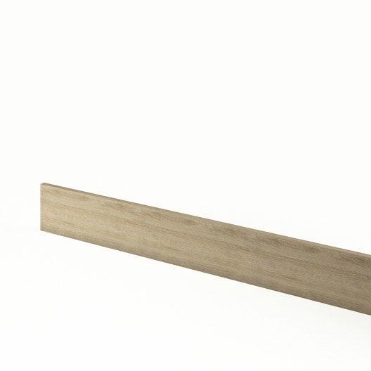 plinthe de cuisine d cor ch ne blanchi graphic l 270 x h 15 cm leroy merlin. Black Bedroom Furniture Sets. Home Design Ideas