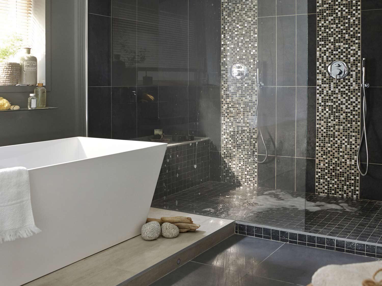 Une salle de bains chic et familiale | Leroy Merlin