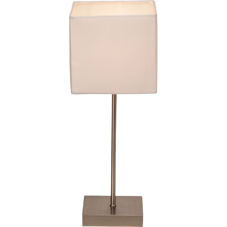 Lampe Tactile E14 Aglae Brilliant Tissu Blanc 40 W