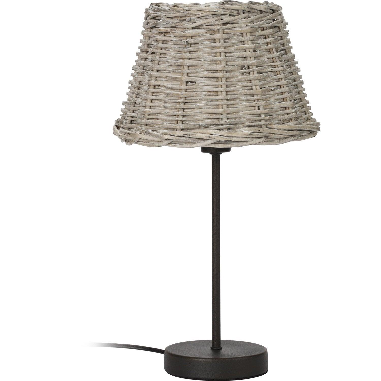 lampe e14 bocage mathias bambou naturel 40 w leroy merlin. Black Bedroom Furniture Sets. Home Design Ideas