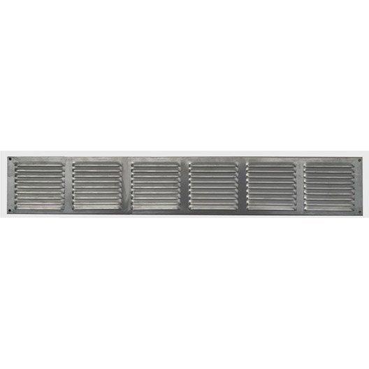 grille d 39 a ration aluminium anodis x cm leroy merlin. Black Bedroom Furniture Sets. Home Design Ideas