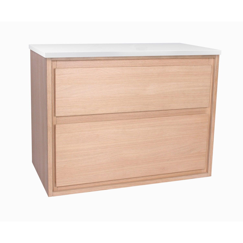 meuble sous vasque x x cm blanc sensea storm leroy merlin. Black Bedroom Furniture Sets. Home Design Ideas