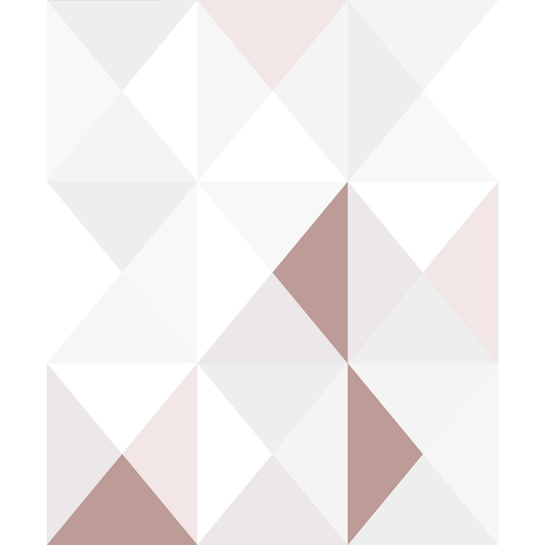 papier peint intiss polygone rose leroy merlin. Black Bedroom Furniture Sets. Home Design Ideas