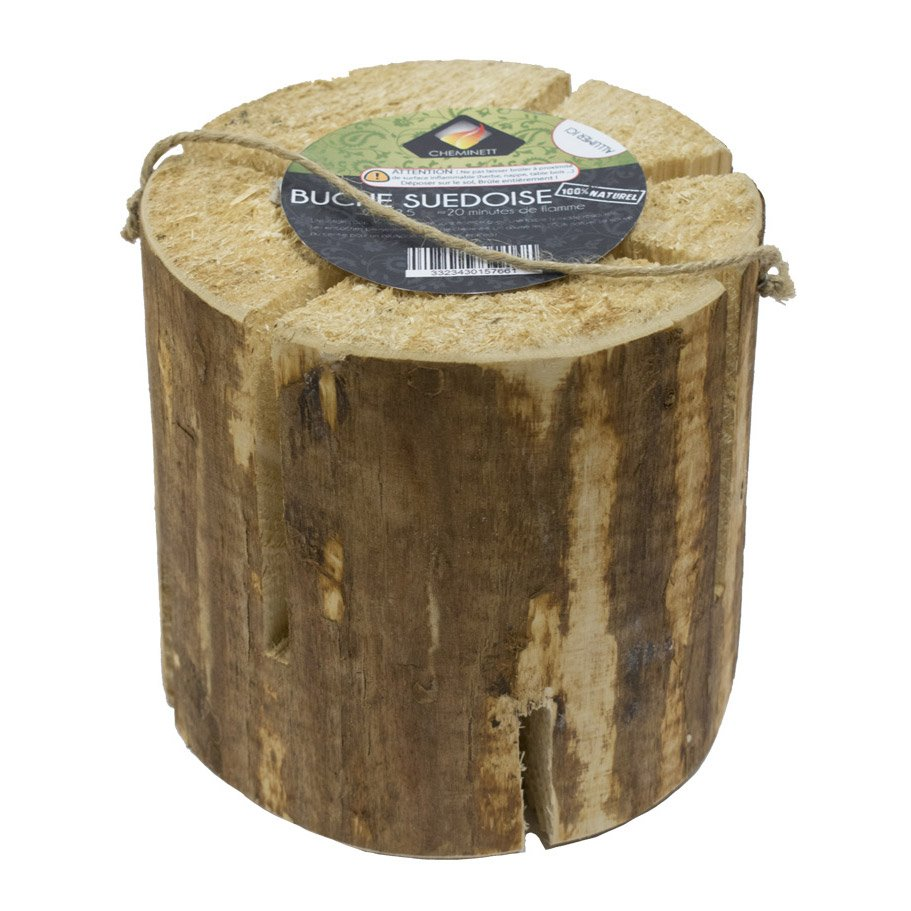 buche de bois et allume feu naturel en bois et cire. Black Bedroom Furniture Sets. Home Design Ideas