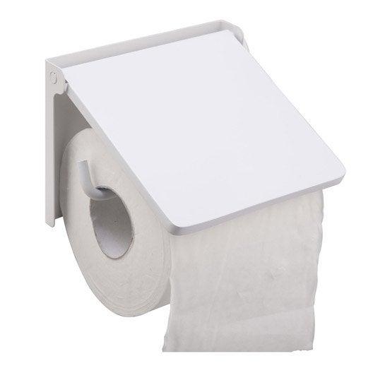 D rouleur papier wc lyrica blanc leroy merlin - Derouleur de papier toilette original ...