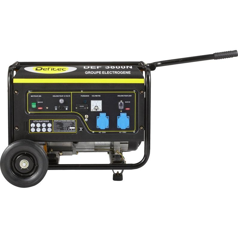 ... Groupe électrogène essence de chantier DEFITEC Defitec 3800 + chariot,  ... b3b0a065b174