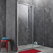 Porte de douche coulissante SENSEA Purity 3 verre transparent chromé 160 cm