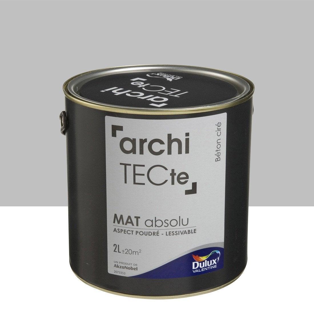 peinture gris b ton cir mat dulux valentine architecte 2 l leroy merlin. Black Bedroom Furniture Sets. Home Design Ideas