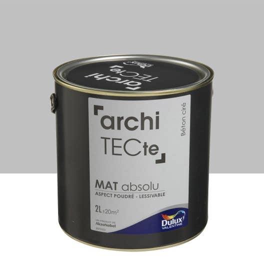 Peinture gris b ton cir mat dulux valentine architecte 2 for Peinture dulux valentine gris