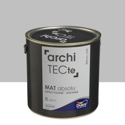 Peinture gris b ton cir dulux valentine architecte 2 l leroy merlin for Peinture aspect beton cire