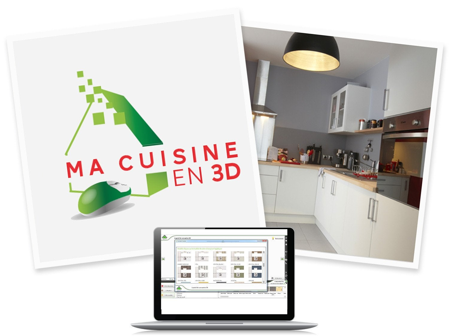 Simulateur cuisine 3d table de cuisine for Simulateur implantation cuisine