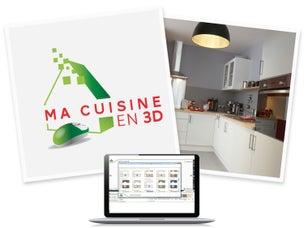 Une cuisine sous les combles leroy merlin for Creer ma cuisine en 3d