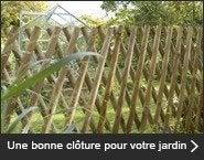 Une bonne clôture pour votre jardin