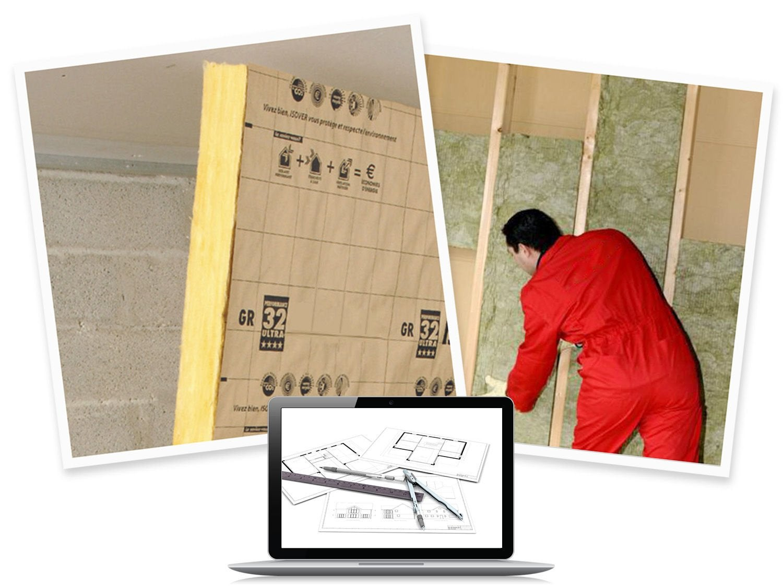 Chiffrer le co t de l 39 isolation de mes murs par l - Isolation des murs par l interieur ...