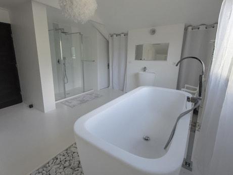 La salle de bains de Jean-Michel à Barcelonnette