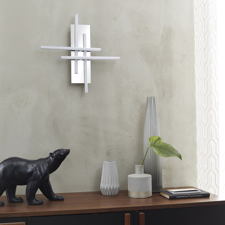 Applique, design led intégrée Otok métal Chromé, 4 INSPIRE